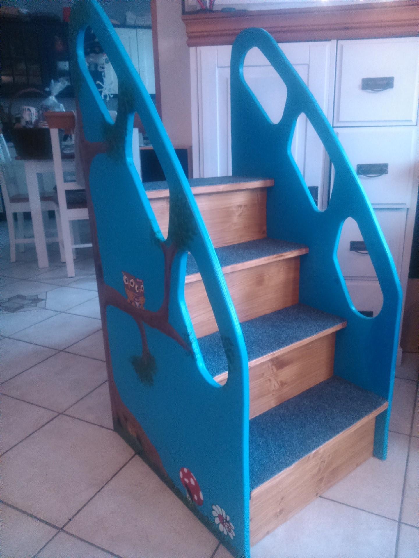 wickelkommodentreppe kita holz individuell kita treppe ebay. Black Bedroom Furniture Sets. Home Design Ideas